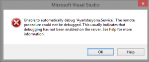 VisualStudio-Unable-to-automatically-debug