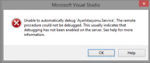 VisualStudio-Unable-to-automatically-debug